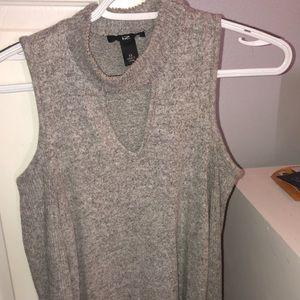 Grey Long sleeved shoulder-less dress!